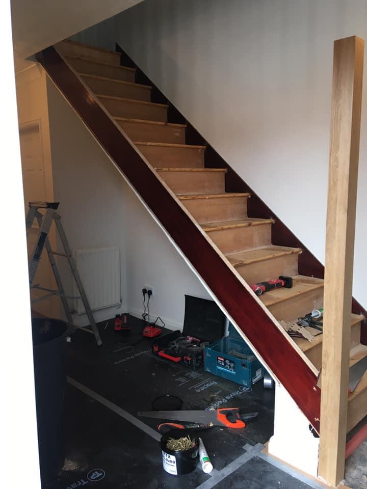 Staircase refurbishment in Kirkham